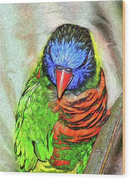 Lorikeet Wood Print