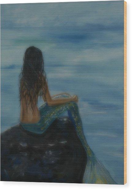 Mermaid Mist Wood Print