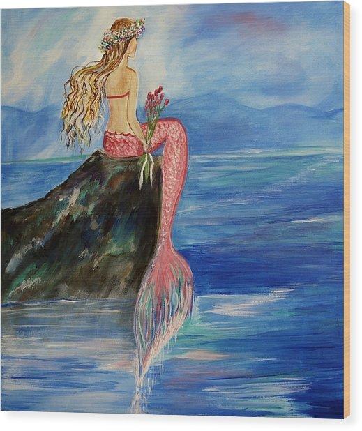 Mermaid Wishes Wood Print