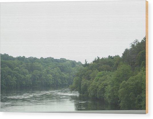 Mighty Merrimack River Wood Print