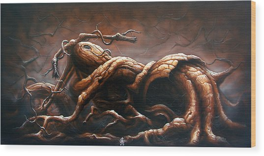 Milwaukee Oak Wood Print by Victor Whitmill