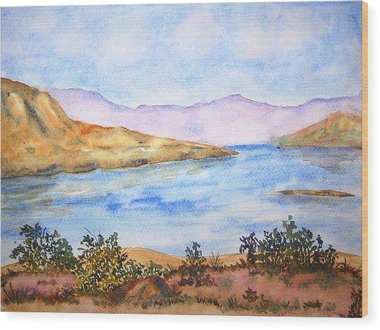 Mulshi Lake Wood Print by Monika Deo