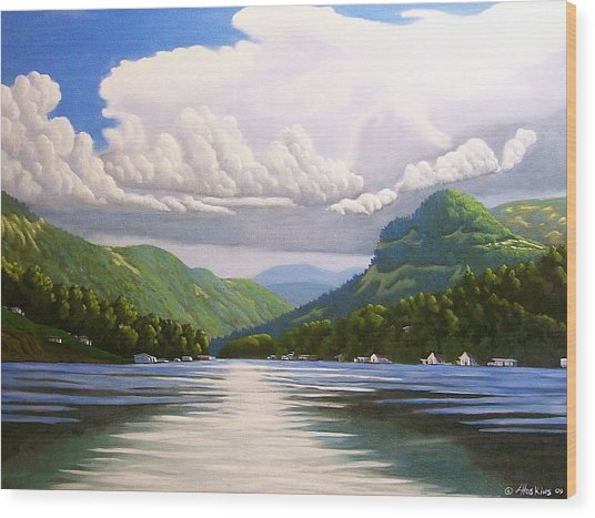 Off The Boat Wood Print by Larry Hoskins