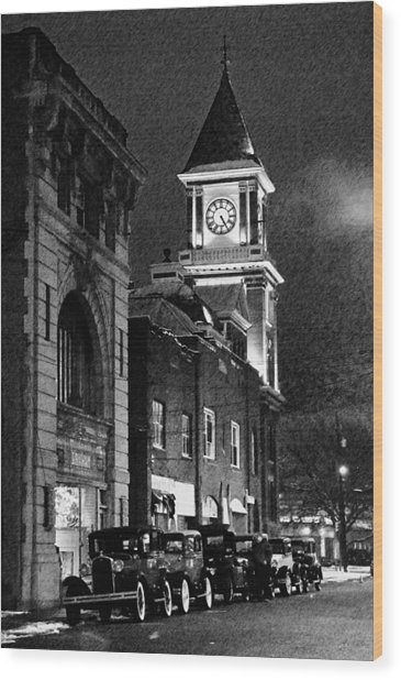 Old City Hall Wood Print by Wade Aiken