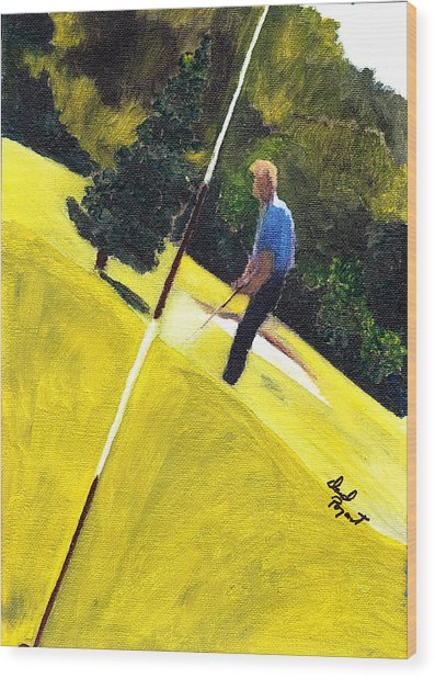One Putt Away Wood Print by David Poyant