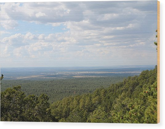 Overlooking Pinetop Wood Print
