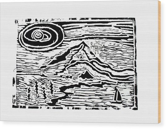 Sailing Wood Print by Adrienne Talbot