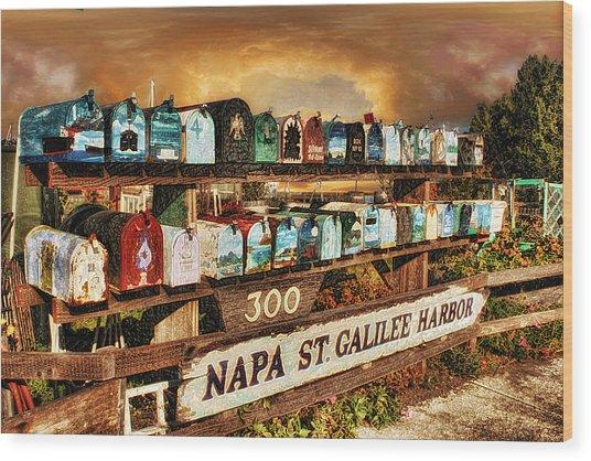 Sailors Mailbox Wood Print