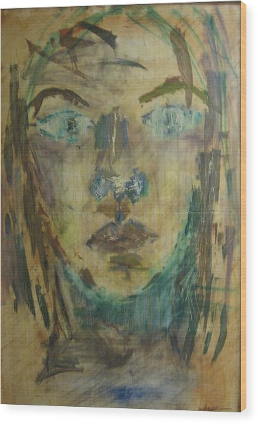 Self Portrait Wood Print by AmyJo Arndt