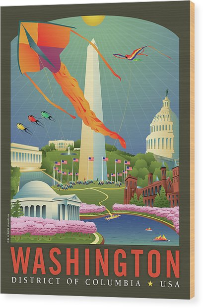Spring In Washington D.c. Wood Print