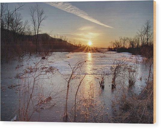Sunrise At The Refuge Wood Print