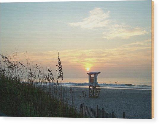 Sunrise Over Wrightsville Beach Wood Print