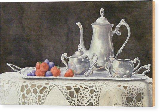 Tea Time  Original Wood Print