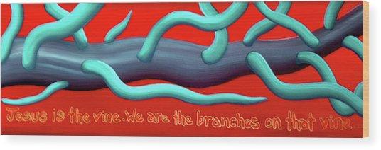The Vine Wood Print by Barbara Stirrup
