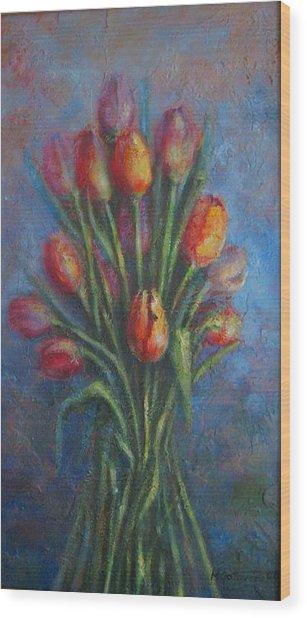 Tulips Wood Print by Mirjana Gotovac