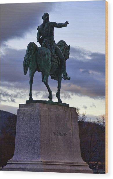 Washington Monument At West Point Wood Print