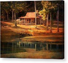Log Cabin Photographs Acrylic Prints