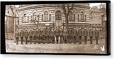 Troops In Front Of Hdqrs. 3rd Corps Acrylic Print