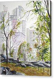 Central Park Stroll Acrylic Print