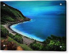 Acrylic Print featuring the photograph Dreamlike Grass Island by Afrison Ma
