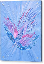Acrylic Print featuring the painting He Brings Healing by Lula Adams