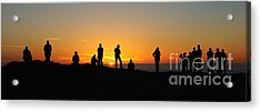 Acrylic Print featuring the photograph Panorama Everyone Likes A Sunset by Vivian Christopher