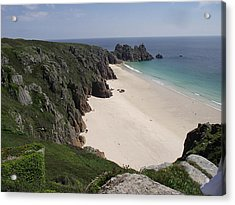 Acrylic Print featuring the photograph Porthcurno Cove by Jayne Wilson