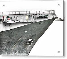 Uss Lexington - Stark Acrylic Print by Wendy J St Christopher