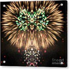 Firework Acrylic Print by Odon Czintos
