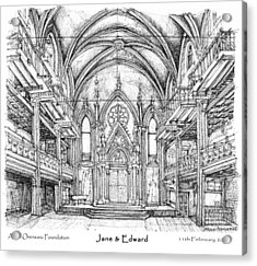 Angel Orensanz Jane And Edward's Wedding Acrylic Print by Building  Art
