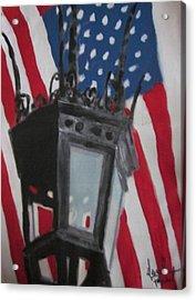 Boston Lightpost Acrylic Print by David Poyant