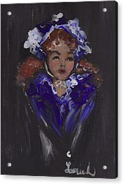 Acrylic Print featuring the painting Lil Girl Blue by Laurie L