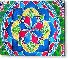 Mandalas Circle Of Life Acrylic Print by Sandra Lira