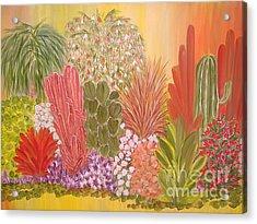 My Cactus Garden Acrylic Print