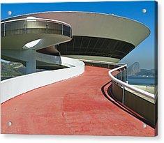 Contemporary Art Museum Niteroi Brazil Acrylic Print by George Oze