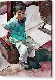 Acrylic Print featuring the painting Andrew by Yolanda Koh