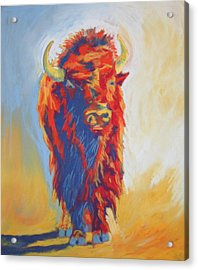Acrylic Print featuring the pastel Buffalo Blues by Pat Crowther