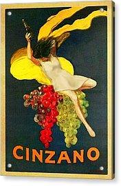 Cinzano Girl Acrylic Print by Nick Diemel