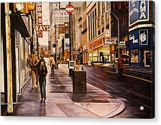 Fifth Avenue In The 80s Acrylic Print by James Guentner