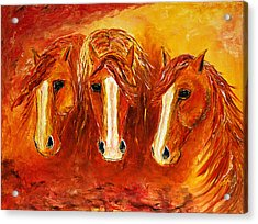 Fire Angels Acrylic Print by Jennifer Godshalk
