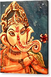 Ganesh Acrylic Print by Sabrina Phillips
