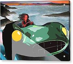 Girl In Green Aston Acrylic Print by Geoff Greene