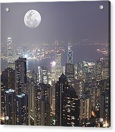 Hongkong Acrylic Print by MotHaiBaPhoto Prints