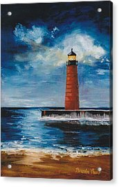 Acrylic Print featuring the painting Lonely Beacon by Brenda Thour