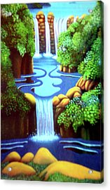 Saltwater Falls Acrylic Print by Barbara Stirrup