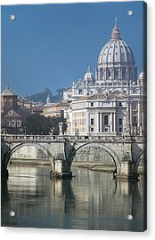 St Peters Basilica, Rome, Italy Acrylic Print by Martin Child