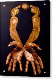 The Hands Of A Body Builder Acrylic Print