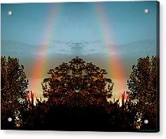 The Rainbow Effect Acrylic Print by Sue Stefanowicz