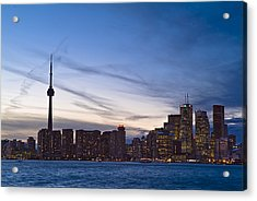 View From Islands Of Skyline Toronto Acrylic Print by Richard Nowitz