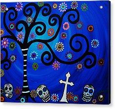 Day Of The Dead Acrylic Print by Pristine Cartera Turkus